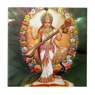 Saraswati floral tejas  ceramicas