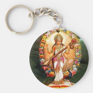 Saraswati floral llavero personalizado