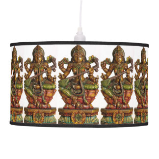 SARASWATI HINDU GODDESS OF LEARNING HANGING PENDANT LAMP