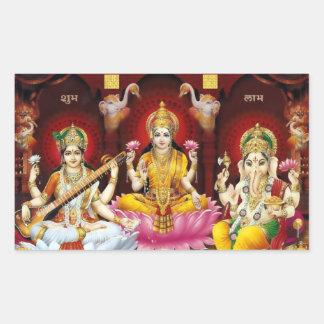 Saraswati, Lakshmi, & Ganesha Stickers