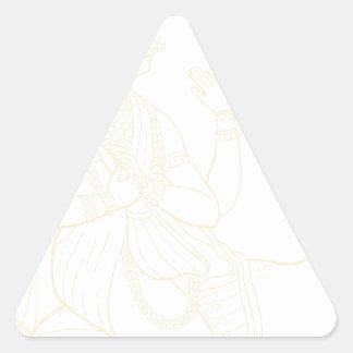 Saraswati Pegatina Triangular