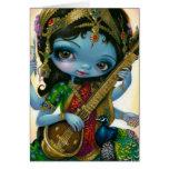 """Saraswati Playing Veena"" Greeting Card"