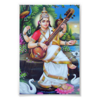 "Saraswati Print (4"" x 6"") - Version 3 Photo Print"