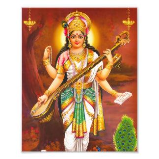 "Saraswati Print (8"" x 10"") - Version 2 Photo Print"