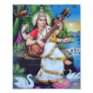 "Saraswati Print (8"" x 10"") - Version 3 Photo Print"