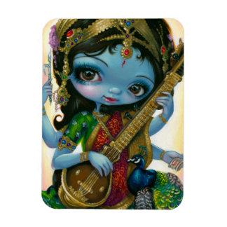 Saraswati que juega imán de la flexión de Veena