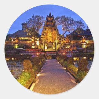 Saraswati Temple, Ubud Bali Indonesia Classic Round Sticker