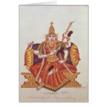 Saratheswathee, hindu goddess of learning card