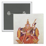 Saratheswathee, hindu goddess of learning pinback button