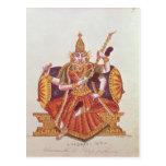 Saratheswathee, hindu goddess of learning postcard