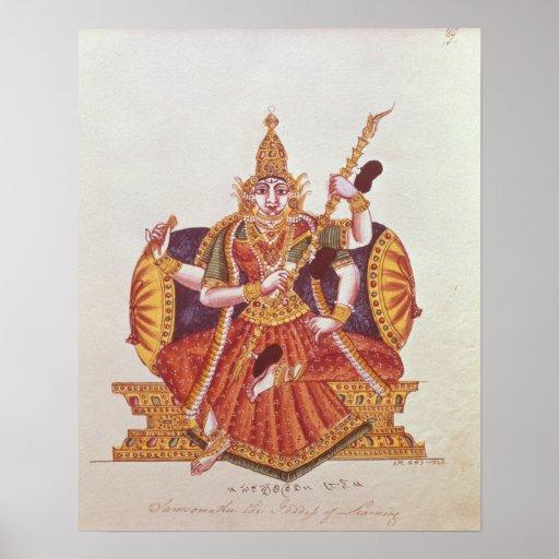 Saratheswathee, hindu goddess of learning poster