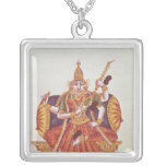 Saratheswathee, hindu goddess of learning silver plated necklace
