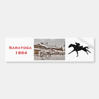 Saratoga 1864 pegatina de parachoque