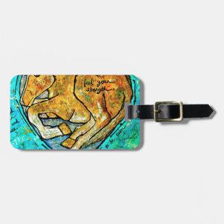 Saratoga beauty luggage tag