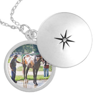 Saratoga - Horse Haven Silver Plated Necklace