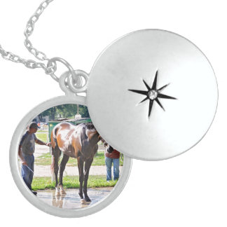 Saratoga - Horse Haven Sterling Silver Necklace