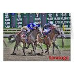 Saratoga Horse Racing Card