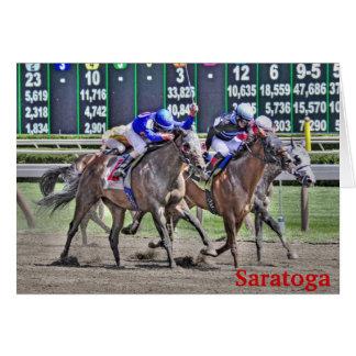 Saratoga Horse Racing Greeting Card