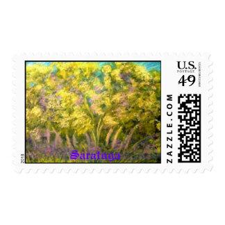saratoga , NY Postage Stamp