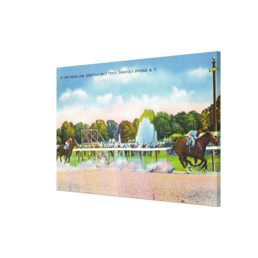 Saratoga Race Track Finish Line View Canvas Print