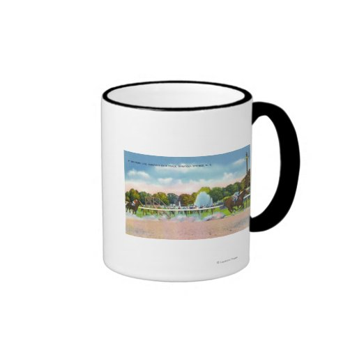 Saratoga Race Track Finish Line View Coffee Mug