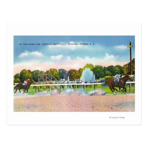Saratoga Race Track Finish Line View Post Cards