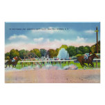 Saratoga Race Track Finish Line View Posters
