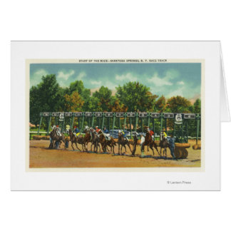Saratoga Race Track Starting Line View Cards