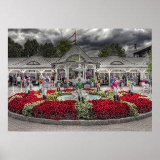 Saratoga s Iconic 12 Stakes Winning Lawn Jockeys Poster