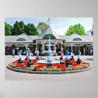 Saratoga s Iconic 12 Stakes Winning Lawn Jockeys Print