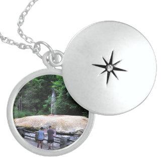 Saratoga Spa State Park-Geyser Creek Round Locket Necklace