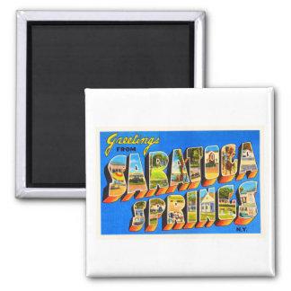 Saratoga Springs New York NY Old Travel Souvenir Magnet