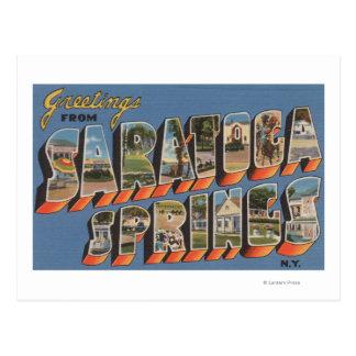 Saratoga Springs, Nueva York - escenas grandes de Postal