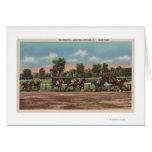 Saratoga Springs, NY - Horse Race Track Scene Card