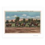 Saratoga Springs, NY - Horse Race Track Scene Postcard