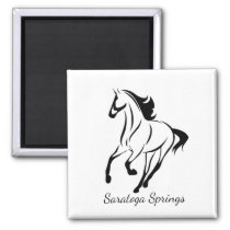 Saratoga Springs Racing Horse Magnet
