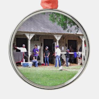 Saratoga Stables Barn #39 Metal Ornament
