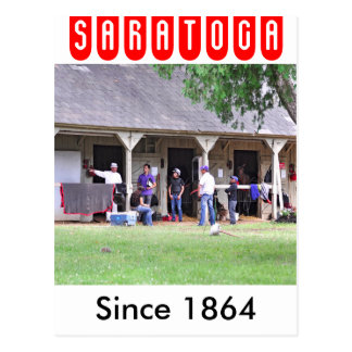 Saratoga Stables Barn #39 Postcard