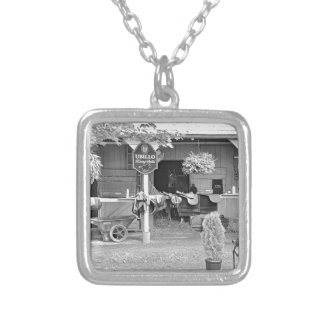 "Saratoga Stables ""Horse Haven"" Silver Plated Necklace"