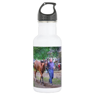 "Saratoga Stables ""Horse Haven"" Stainless Steel Water Bottle"