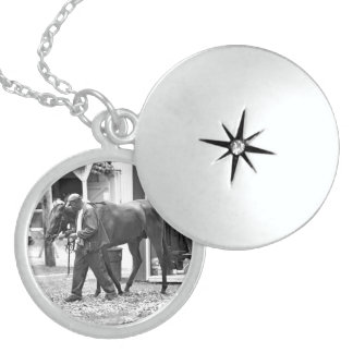 Saratoga Stables Locket Necklace