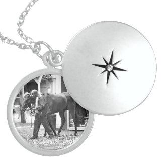 Saratoga Stables Round Locket Necklace