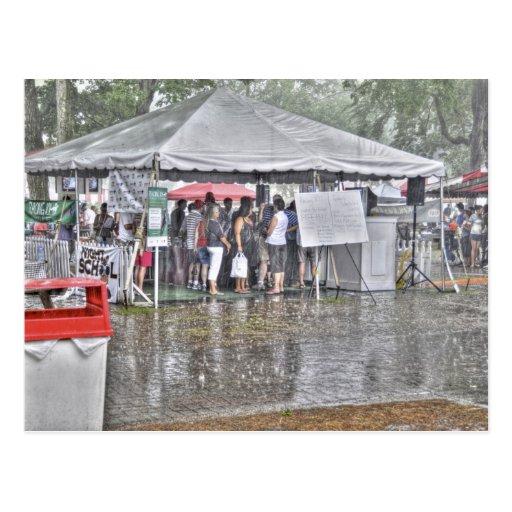 Saratoga Storms Postcard