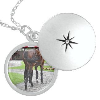 Saratoga Swish Round Locket Necklace
