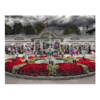 Saratoga's 12 Lawn Jockeys Postcard