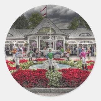 Saratoga's 12 Stakes Winners.jpg Classic Round Sticker