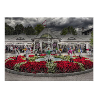Saratoga's Iconic 12 Stakes Winning Lawn Jockeys Poster