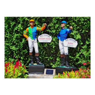 Saratoga's Iconic Traver's Stakes Lawn Jockeys Posters