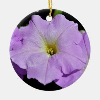 Saratoga's Mid-August Purple Wild Flower Ceramic Ornament