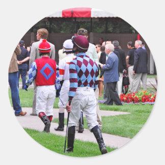 Saratoga's Top Jockeys heading to the Paddock Classic Round Sticker